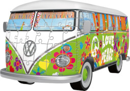 Ravensburger 125326 Puzzle 3D VW Bulli T1 Hippie Edition 162 Teile