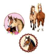 Glimmersticker Pferdefreunde