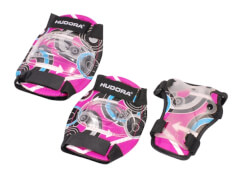 Hudora 83343 - Protektoren-Set Pink Style, pink, Größe S