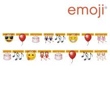 emoji® Partygirlande Länge: ca. 165 cm